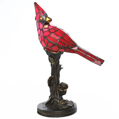 Tiffany Style Red Cardinal Lamp from Flowers, Etc. in Newington, CT