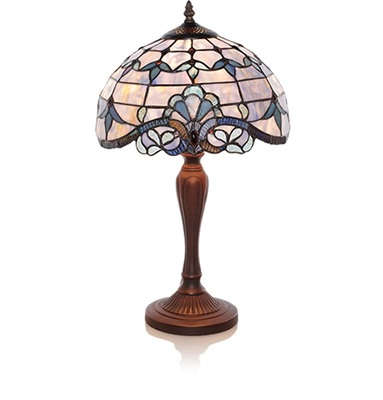 12152 Blue Allistar Table lamp lg from Flowers, Etc. in Newington, CT
