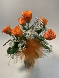 Flowers Etc 6 Orange Roses