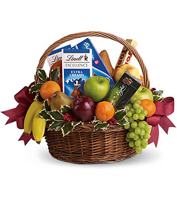 Fruits and Sweets Christmas Basket from Flowers, Etc. in Newington, CT