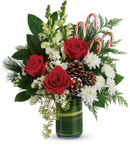Teleflora's Festive Pines Bouquet from Flowers, Etc. in Newington, CT
