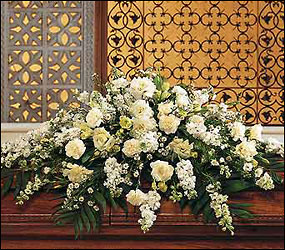 Pure White Casket Spray from Flowers, Etc. in Newington, CT