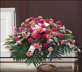 Delicate Pink Casket Spray from Flowers, Etc. in Newington, CT