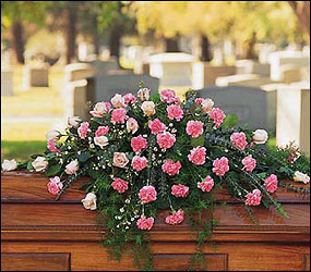 Heavenly Pink Casket Spray from Flowers, Etc. in Newington, CT