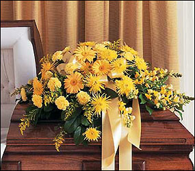 Brighter Blessings Casket Spray from Flowers, Etc. in Newington, CT