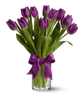 Passionate Purple Tulips from Flowers, Etc. in Newington, CT
