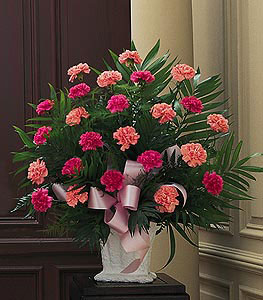 Basket with Pink Carnations from Flowers, Etc. in Newington, CT