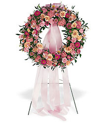 Respectful Pink Wreath from Flowers, Etc. in Newington, CT