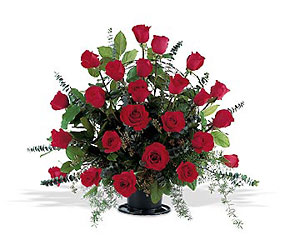 Blooming Red Roses Basket from Flowers, Etc. in Newington, CT