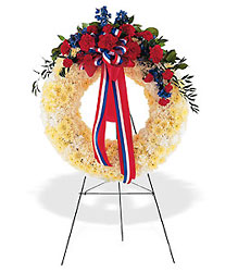 Patriotic Spirit Wreath from Flowers, Etc. in Newington, CT