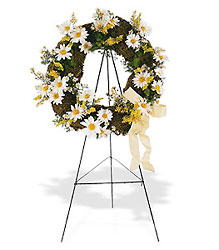 Drop of Sunshine Wreath from Flowers, Etc. in Newington, CT