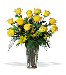 A Dozen Yellow Roses from Flowers, Etc. in Newington, CT