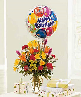 Birthday Balloon Bouquet from Flowers, Etc. in Newington, CT