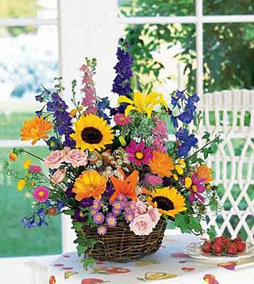 Summertime Sensation Basket from Flowers, Etc. in Newington, CT